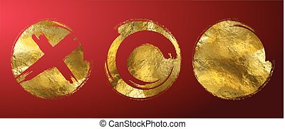frame, vector, goud