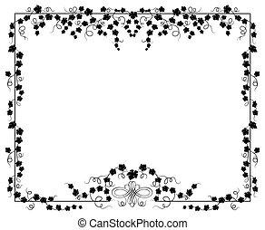 frame, vector, klimop, illustratie
