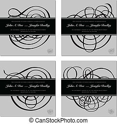frame, vector, ornament, set