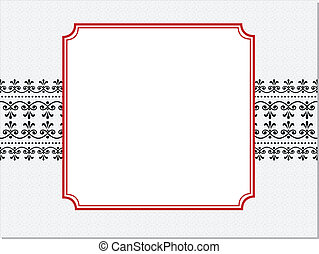 frame, vector, rood, sierlijk