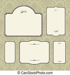 frame, vector, set, sierlijk
