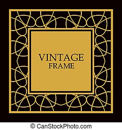 frame, vector, sierlijk