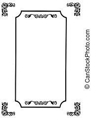 frame, vector, witte achtergrond