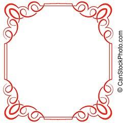frame, vector, witte achtergrond, sierlijk