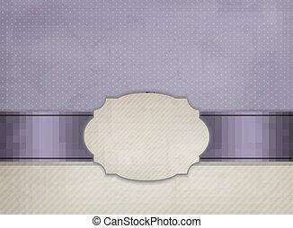 frame., vendange, ornement, illustration, vecteur, fond