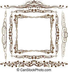 frame, versieringen