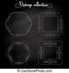 Frame vintage elements