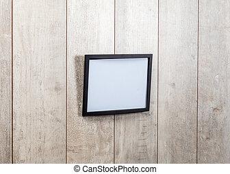Frame vintage on wood wall