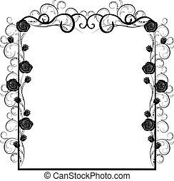 frame vintage with roses 2