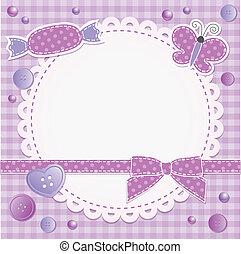 frame, viooltje