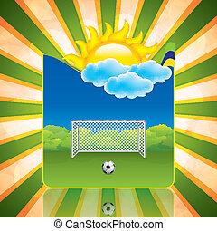 frame, voetbal