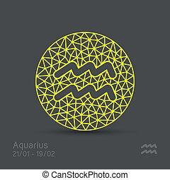 frame, waterman, meldingsbord, vector, zodiac, circulaire