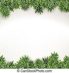 frame., weihnachten, tanne