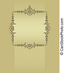 frame with a gold background