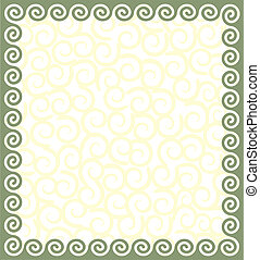 Frame with a meander. Vector ornament in Greek style.