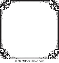 frame with a pattern - Frame in vintage style with filigree ...