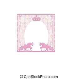 Frame with a pink unicorns