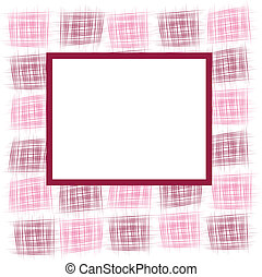 Frame with abstract squares