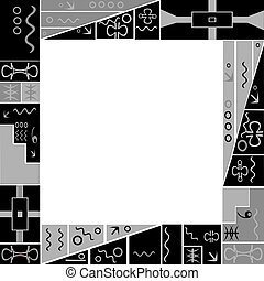 Frame with African motifs