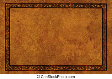 Frame with American Indian national patterns - Background...