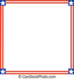 Frame with American symbols