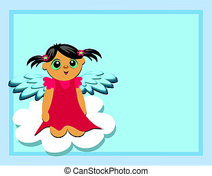 Frame with Angel on a Cloud