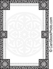 frame with Arabic geometrical patte