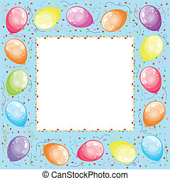 Frame with balloons, vector