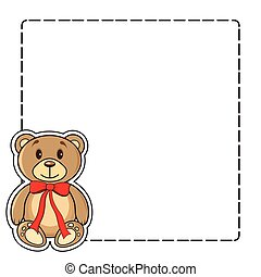 Frame with bears in the vector