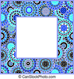 Frame with blue motifs