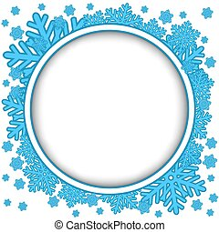 Frame with blue snowflakes