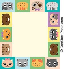 Frame with cartoon cats