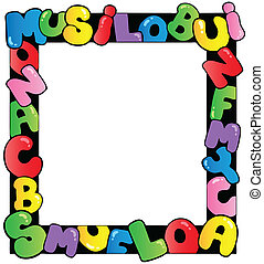 Frame with cartoon letters