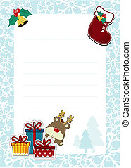 dear santa template - frame with childlike christmas...