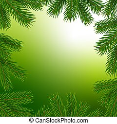 Frame with christmas tree branches
