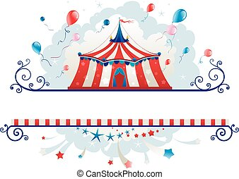 Frame with circus tent