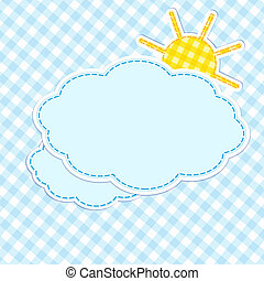 Frame with clouds and sun
