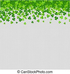 Frame With Clovers Transparent Background