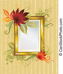 frame with colorful autumn leafs