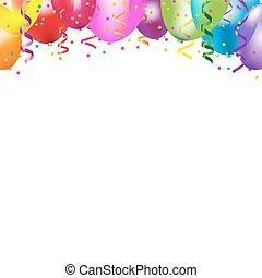 Frame With Colorful Balloons With Gradient Mesh, Vector...