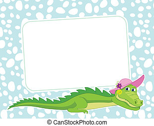 Frame with crocodile