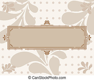 Frame with curls for your text.