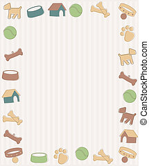 Frame with dog symbols