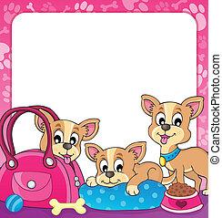Frame with dog theme 3