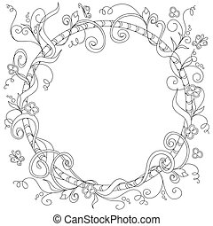 frame with doodle elements