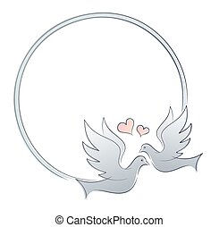 Frame with doves.
