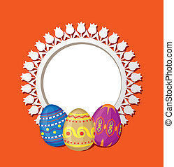 Frame with Easter eggs