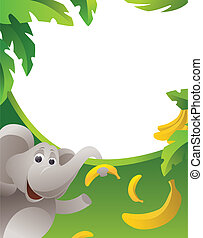 Frame with elephant