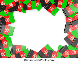 Frame with flag of afghanistan