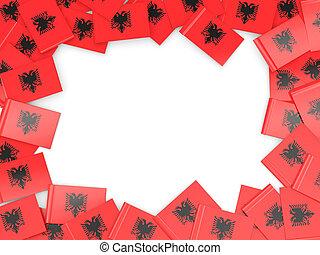 Frame with flag of albania